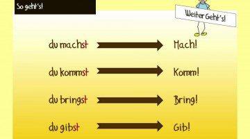 اسلوب الأمر في قواعد اللغة الالمانية