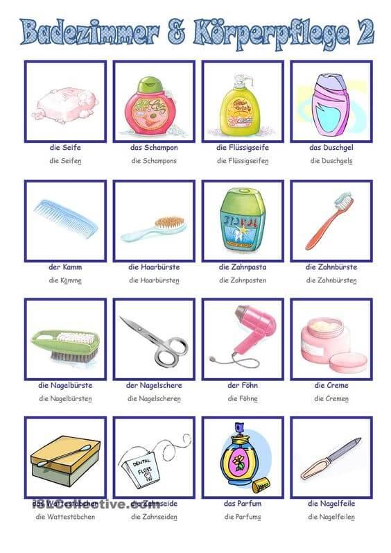 اسماء ادوات المطبخ بالالماني مع النطق f 9 تعلم اللغة الالمانية
