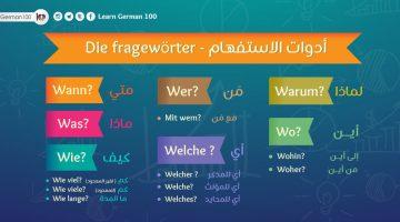ادوات الاستفهام في اللغة الالمانية و تشكيل السؤال