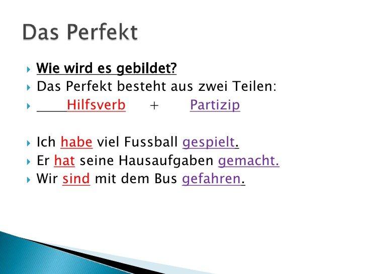 تعلم اللغة الالمانية (5) زمن الحاضر التام \ Das Perfekt