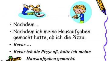 حروف العطف في اللغة الالمانية 1 \ bis , bevor , nachdem , wann \