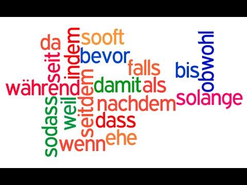 حروف العطف في اللغة الالمانية \ während , seit , seitdem \  – قواعد