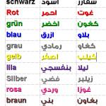 الالوان باللغة الالمانية – مفردات شائعة مع محادثة صوتية