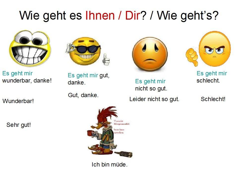 7 طرق سهلة لتجيب على سؤال كيف حالك باللغة الالمانية Wie gehts2 2 تعلم اللغة الالمانية