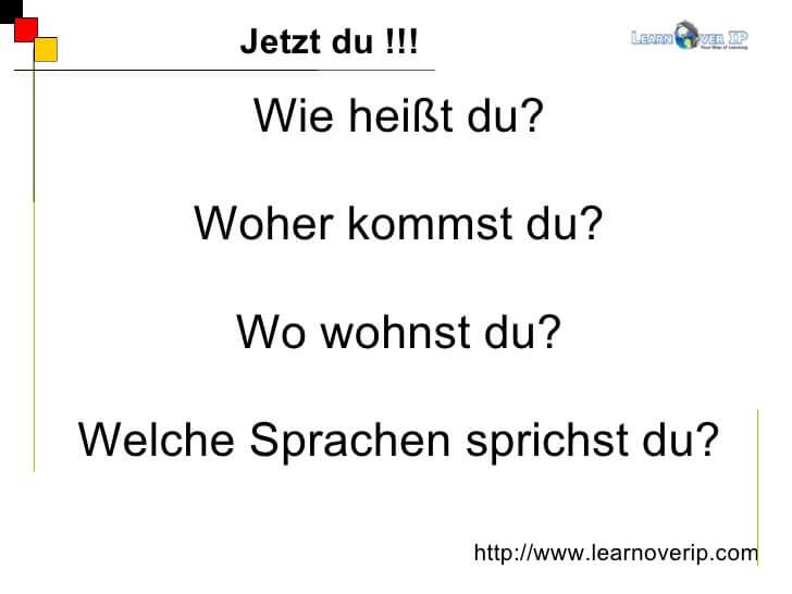 امتحان B1 لـ اللغة الالمانية القسم الشفهي – التعريف بالنفس