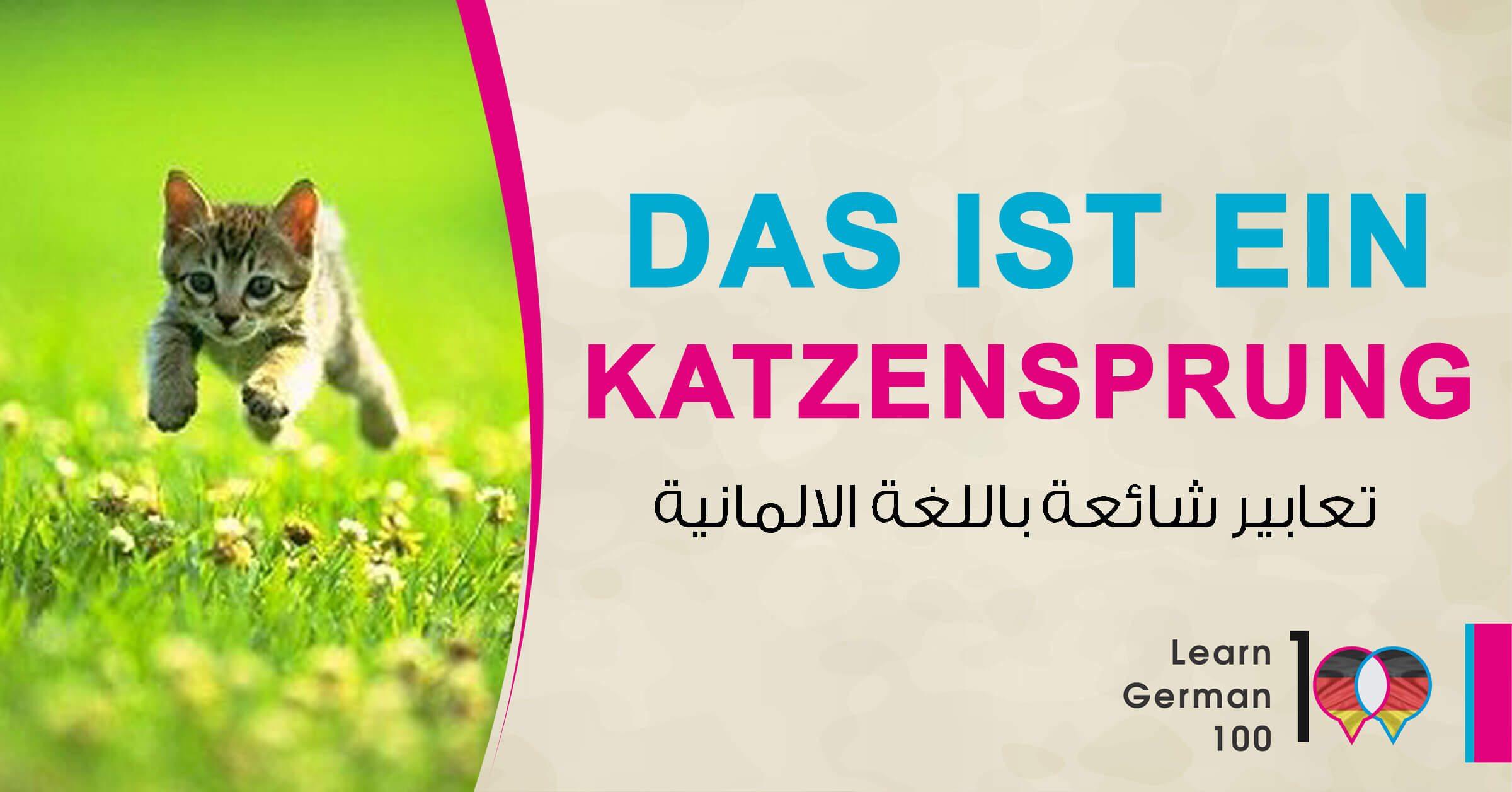 تعبير الماني شائع مع ترجمته ومثال Das ist ein Katzensprung