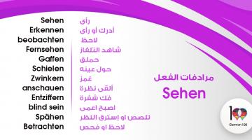 مرادفات الفعل Sehen – تعلم اللغة الالمانية