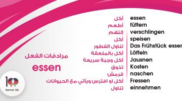 مرادفات الفعل Essen – تعلم اللغة الالمانية