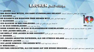 مرادفات الفعل Lachen – تعلم اللغة الالمانية
