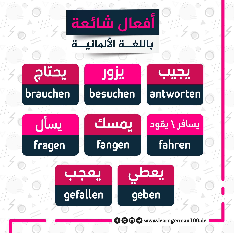 كلمات المانية مترجمة ger verbs 1 تعلم اللغة الالمانية