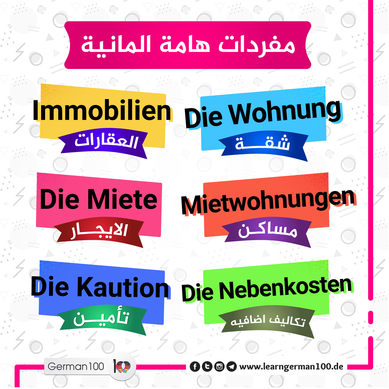 تعلم كلمات اللغة الالمانية wohnung 1 تعلم اللغة الالمانية