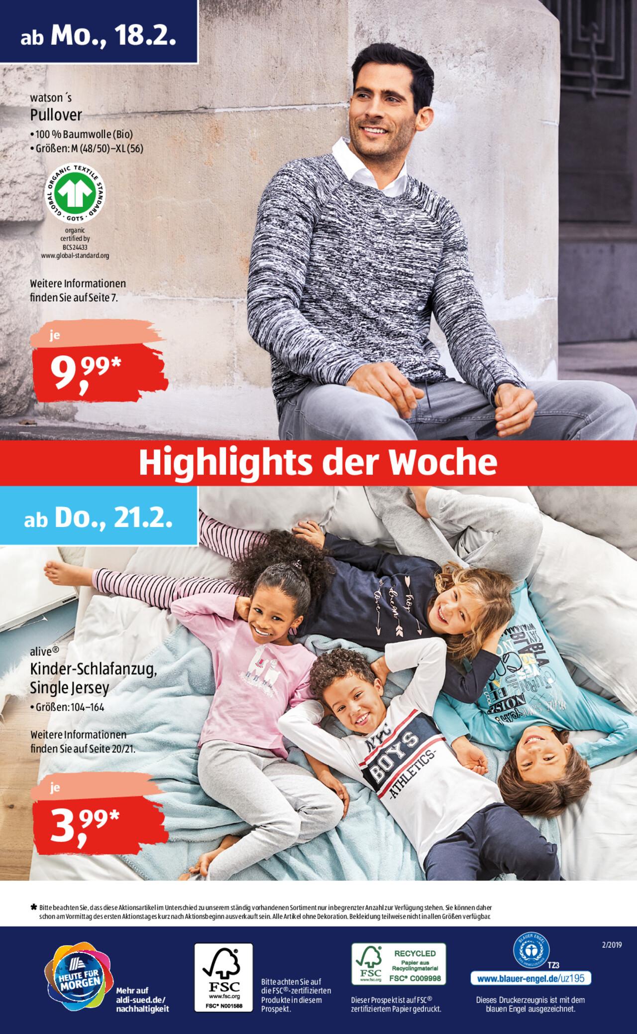 عروض ALDI SÜD لهذا الاسبوع ابتداء من 18.02.2019 10038 8 تعلم اللغة الالمانية